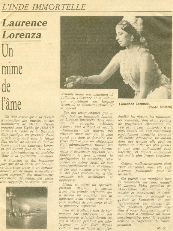 Nice matin 9 octobre 1980